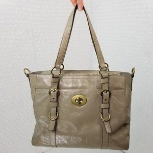 Coach authentic taupe sealed leather purse